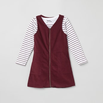 MAX Carduory Dress with Striped T-shirt