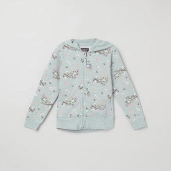 MAX Floral Print Hooded Sweatshirt