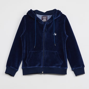 MAX Solid Zip-Closure Hooded Sweatshirt