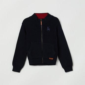 MAX Textured Zip-Through Sweater