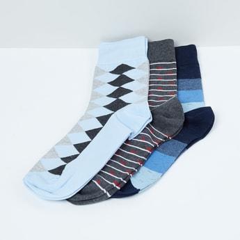 MAX Geometric Patterned Socks- Set of 3