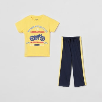 MAX Printed Lounge T-shirt with Track Pants