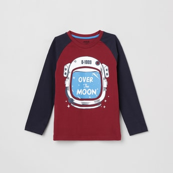 MAX Printed Raglan Sleeves T-shirt