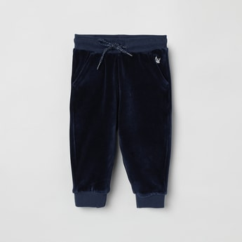 MAX Solid Joggers with Pockets and Ribbed Hems