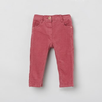 MAX Solid Corduroy Slim Fit Trousers