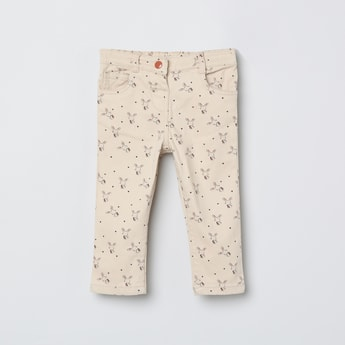MAX Printed Slim Fit Trousers