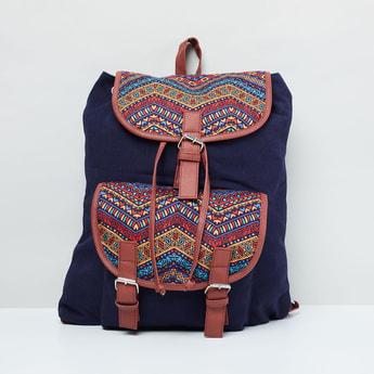 MAX Printed Drawstring Closure Backpack