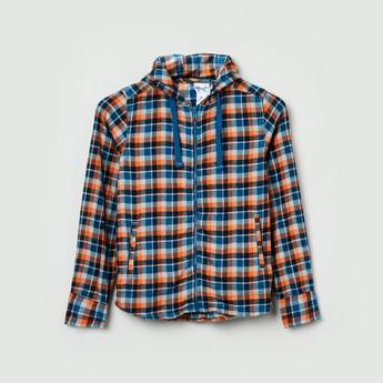 MAX Checked Full Sleeves Zip-Up Shirt