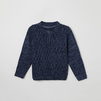 MAX Textured Crew Neck Sweater