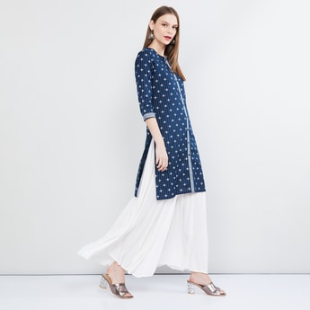 MAX Printed Straight Kurta with Button Placket