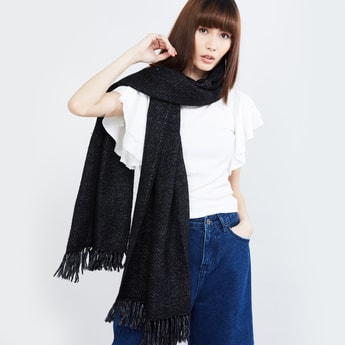 MAX Textured Muffler with Tassels
