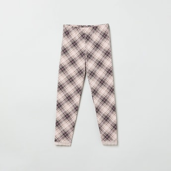 MAX Checked Elasticated Leggings