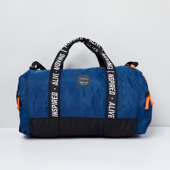 MAX Colourblock Duffel Bag with Printed Straps