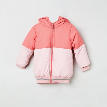 MAX Colourblocked Hooded Puffer Jacket