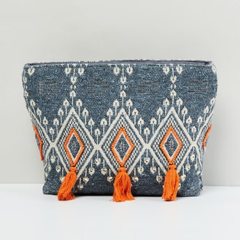 MAX Textured Pouch with Tassels