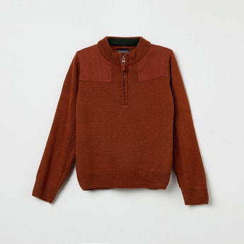 MAX Ribbed Band Collar Sweater