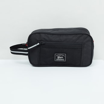 MAX Solid Zip-Closure Toiletry Pouch