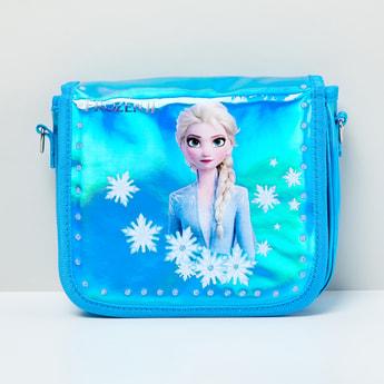 MAX Frozen Print Flap-Closure Sling Bag