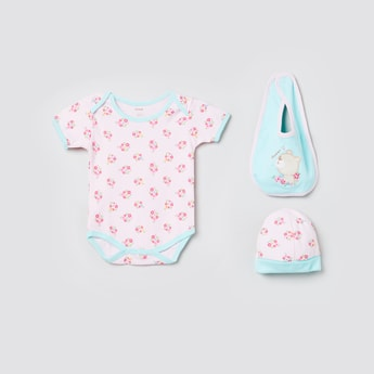 MAX Prointed Romper with Bib and Cap