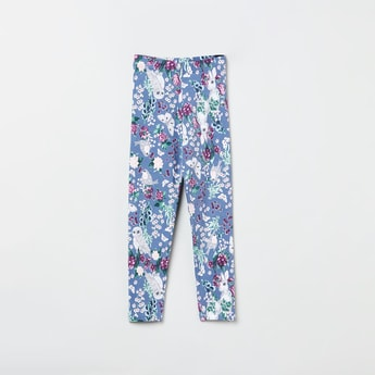MAX Floral Print Knitted Leggings