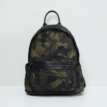 MAX Camouflage Printed Quilted Backpack