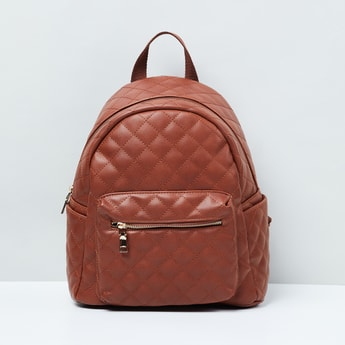 MAX Quilted Backpack with Zip Pocket