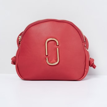 MAX Solid Sling Bag with Metal Accent