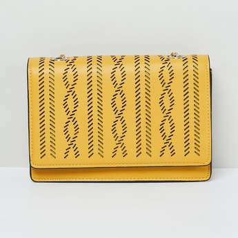 MAX Laser Cut Sling Bag with Chain Strap