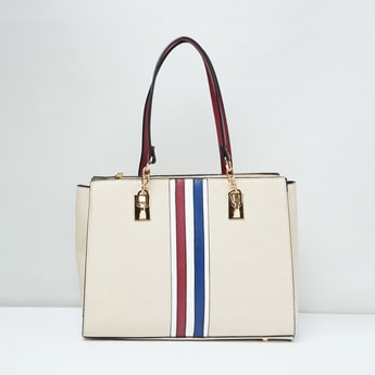 MAX Handbag with Striped Taping