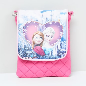 MAX Frozen Print Quilted Sling Bag
