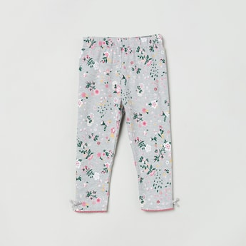 MAX Floral Printed Leggings with Elasticated Waistband