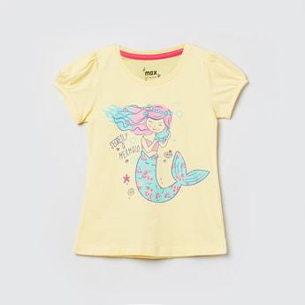 MAX Printed Puffed Sleeves T-shirt