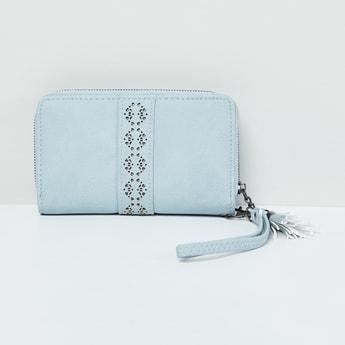 MAX Laser Cut Tasselled Zip-Around Wallet