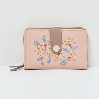 MAX Floral Print Zip-Around Wallet