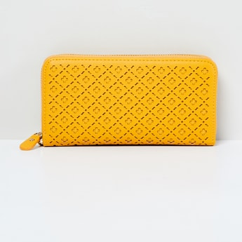 MAX Laser Cut Zip-Around Wallet