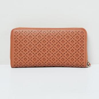 MAX Laser Cut Zip-Around Wallet