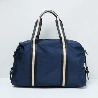 MAX Solid Duffel Bag with Striped Handle