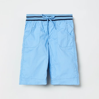 MAX Solid Shorts with Drawstring Waistband
