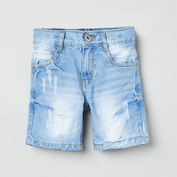 MAX Distressed Denim Shorts