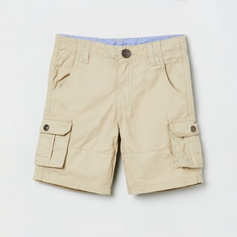 MAX Solid Shorts with Flap Pockets