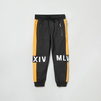 MAX Printed Joggers with Drawstring Waistband