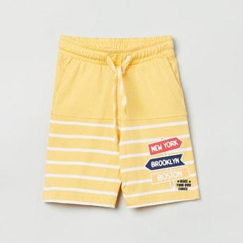 MAX Printed Shorts with Drawstring Waistband