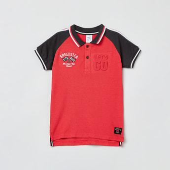 MAX Printed Raglan Sleeves Polo T-shirt