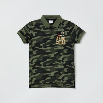 MAX Camouflage Printed Polo T-shirt