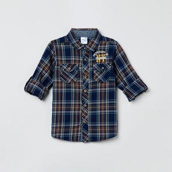 MAX Roll-Up Sleeves Checked Shirt