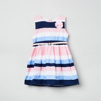 MAX Colourblocked Fit-and-Flare Dress