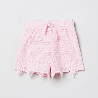 MAX Lace Shorts with Drawstring Waistband