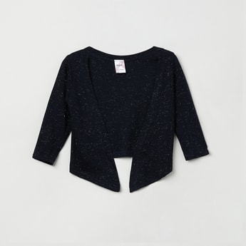 MAX Shimmery Open-Front Shrug