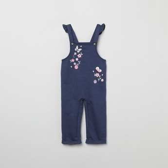 MAX Embroidered Ruffled Detail Dungarees