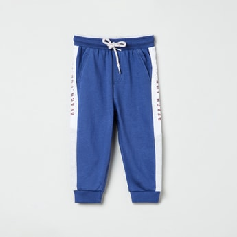 MAX Typographic Print Colourblock Joggers
